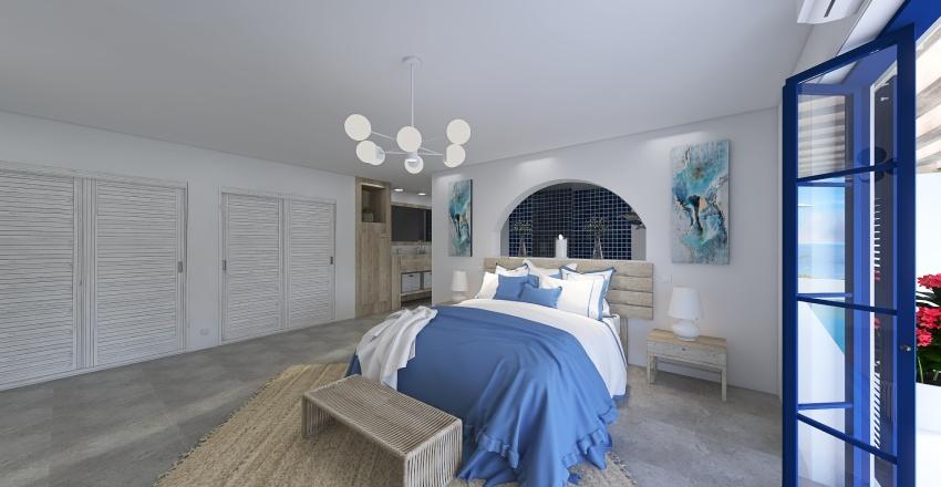 House in Santorini Interior Design Render