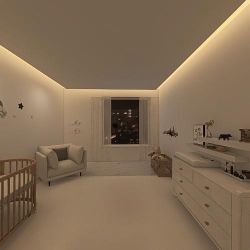 quarto de bebe Interior Design Render