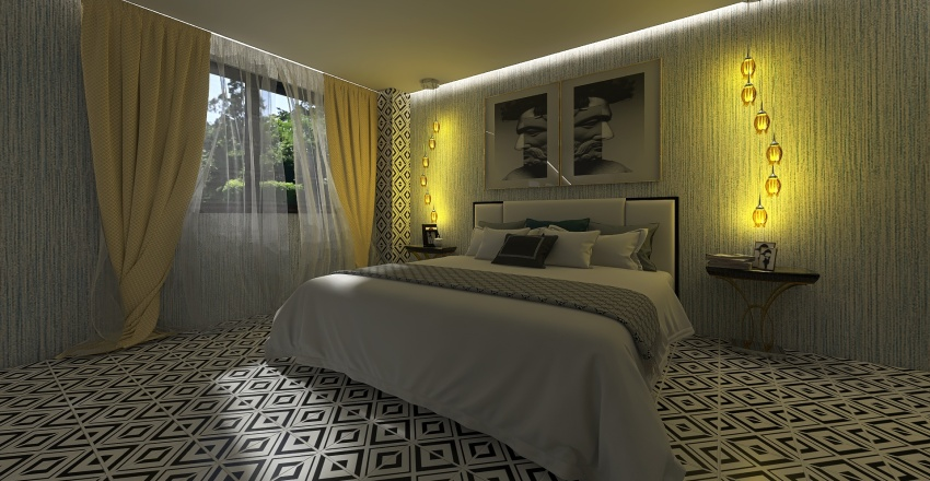 villa quadra... Interior Design Render