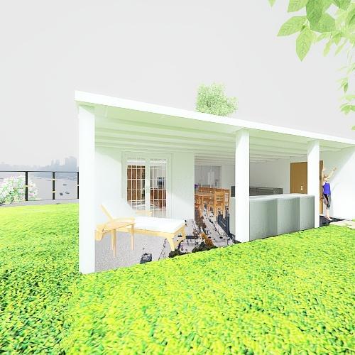 Room 2- Classic Black and White Interior Design Render