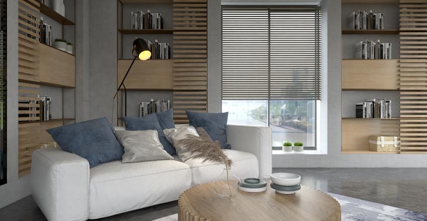 shades of blue Interior Design Render