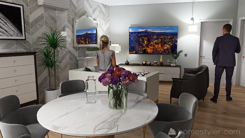 casa piccola in centro città Interior Design Render