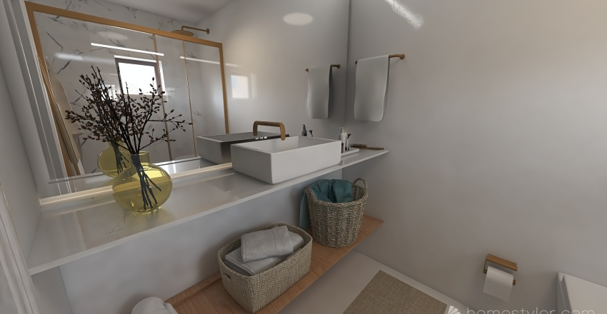 JULIO I CLAUDIA 'S BATHROOM. Interior Design Render