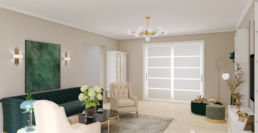 Living Familia Cozma Interior Design Render