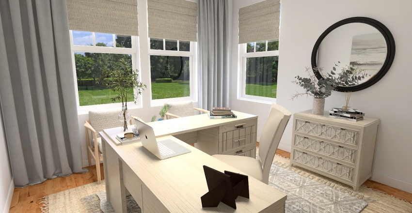 Andrea Office Interior Design Render