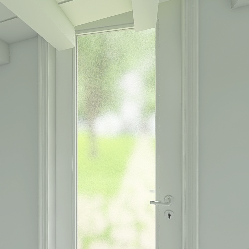 Leier panel 1- Classic Black and White Interior Design Render