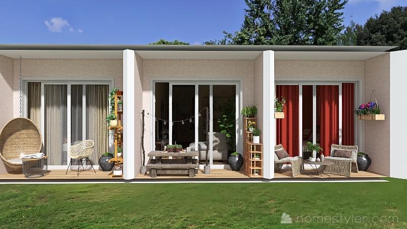 Villa indipendente in periferia Interior Design Render