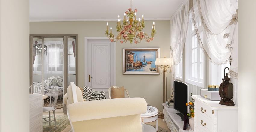 french apartment Interior Design Render