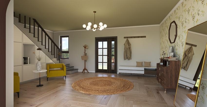 hallway / entryway Interior Design Render