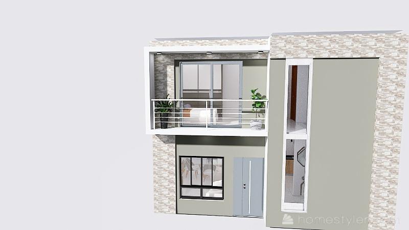 casa de dos pisos 7x7 Interior Design Render