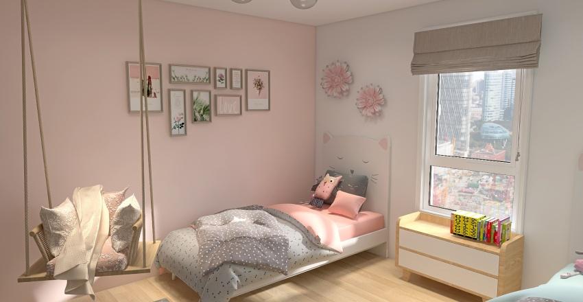 children bedroom Interior Design Render