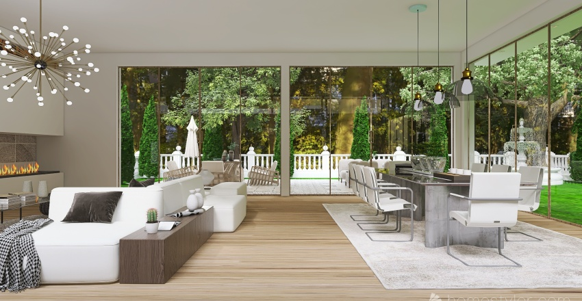 Natural Nostalgia Interior Design Render