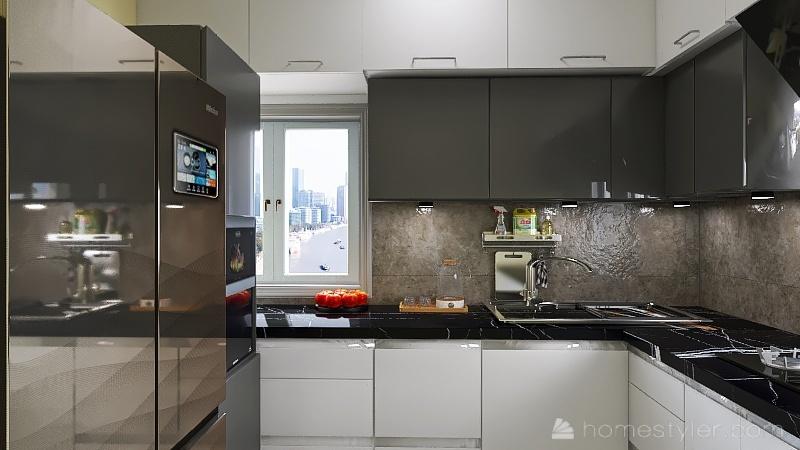Modular kitchen 4 Interior Design Render