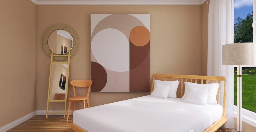 Neutral Style Bedroom Interior Design Render