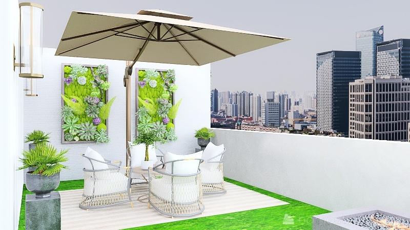 one-bedroom Interior Design Render