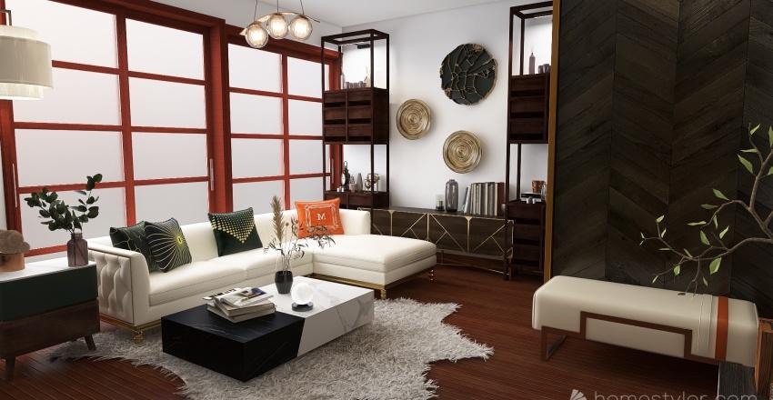 cozy/brown Interior Design Render