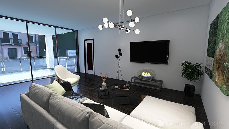 Japanese Modern Home Interior Design Render