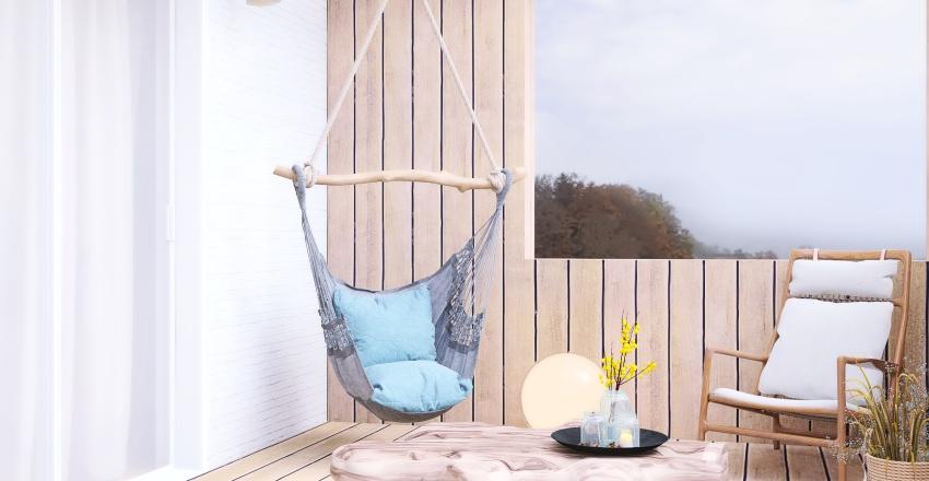 Rustic cottage Interior Design Render