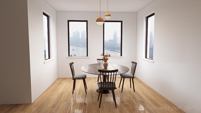 LA Apartment Interior Design Render