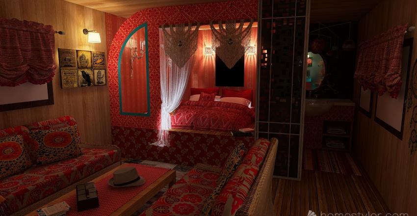 roulotte Interior Design Render