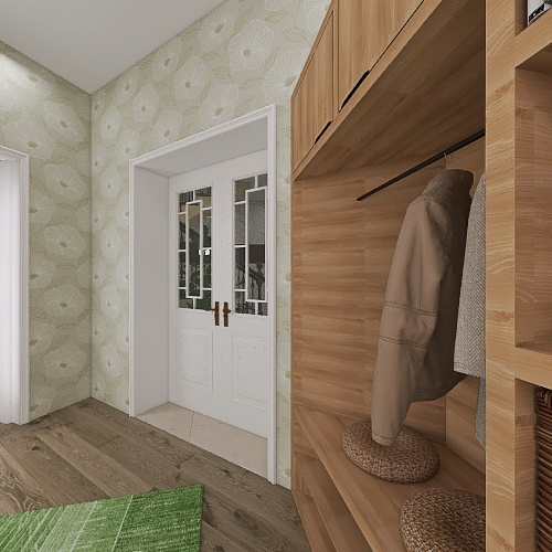 Older apartment restored for present living Interior Design Render