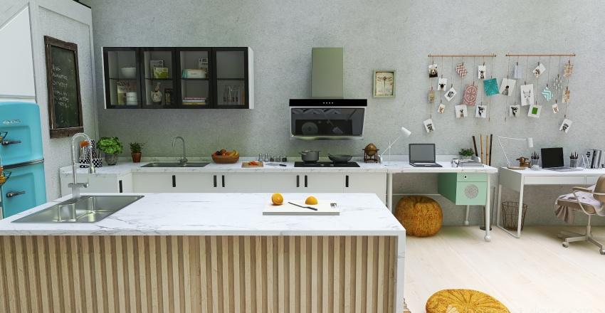 underground house Interior Design Render