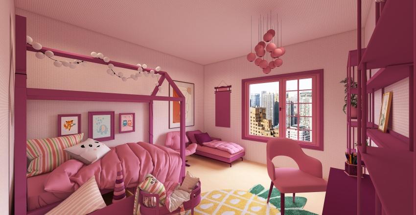 Pink madness Interior Design Render
