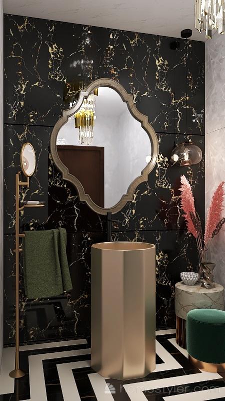 WASHROOM Interior Design Render