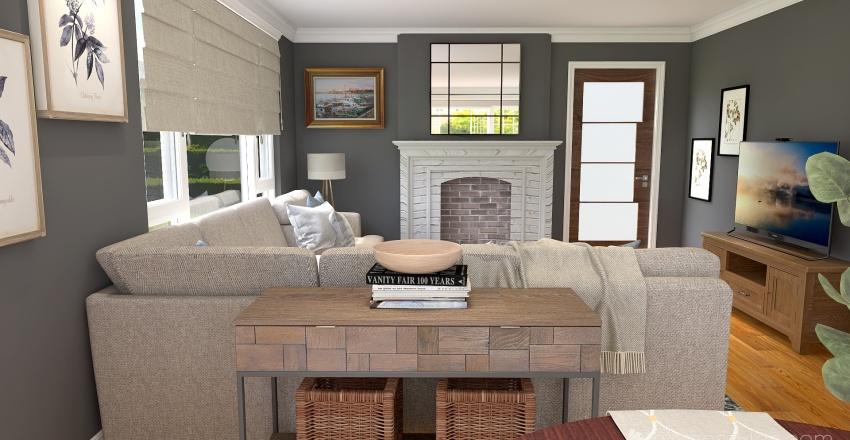 Valerie G Family Room Interior Design Render