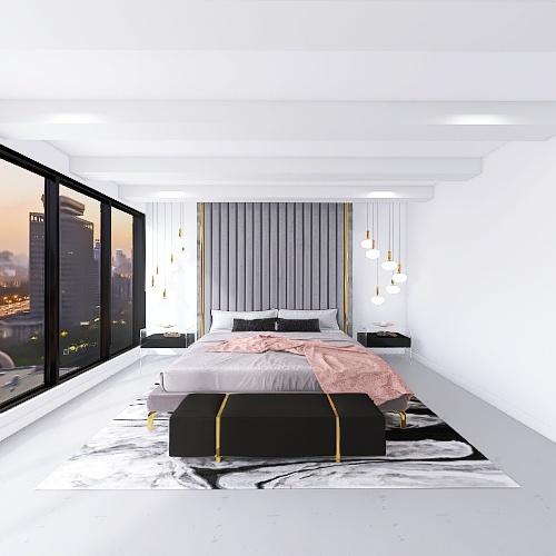 Luxury Bachelorette Pad by Kalani Interior Design Render