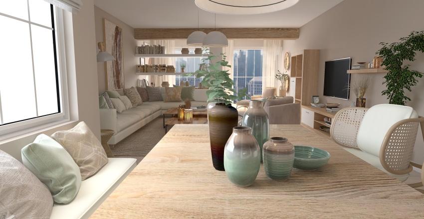 Propuesta amueblamiento  piso dos dormitorios. Interior Design Render