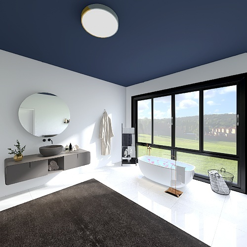 Modern and Country side house Interior Design Render