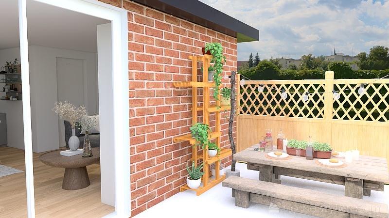 Small bungalow Interior Design Render