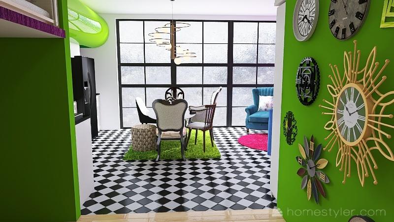 Alice no país das maravilhas Interior Design Render