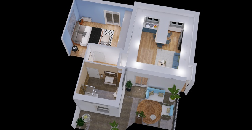 bilocale massimo Interior Design Render