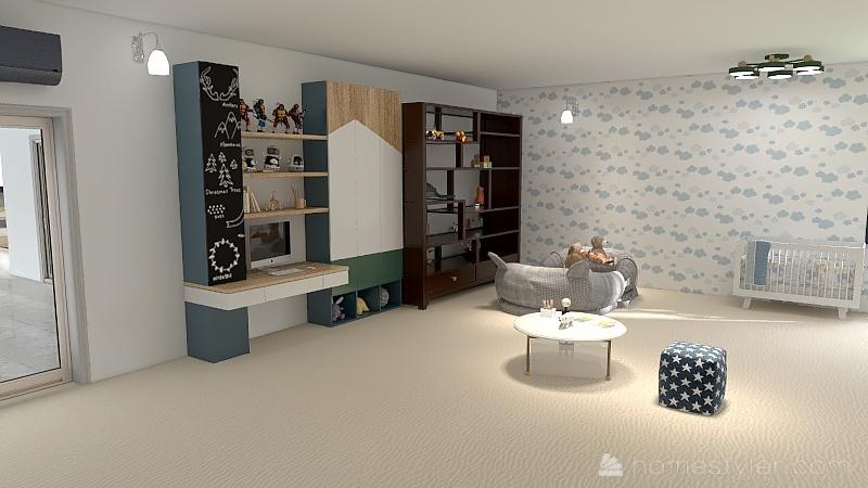 mansión moderna Interior Design Render