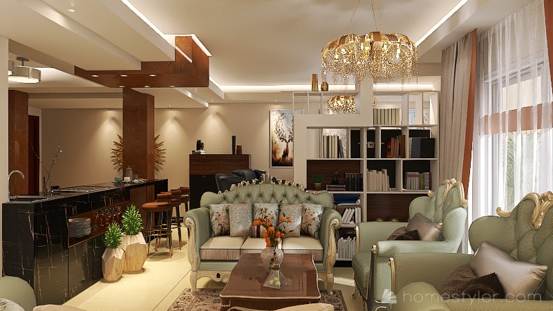 مدام فاطمة مدينة المستقب 3 Interior Design Render