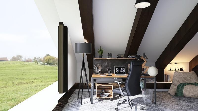 old-fashioned farmhouse trial  Interior Design Render