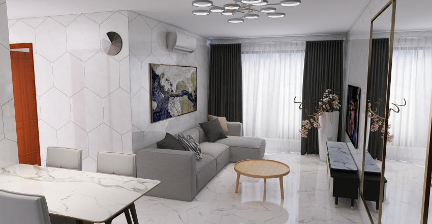 BIDADARI_ParkEdge_White_Marble_June_2021 Interior Design Render