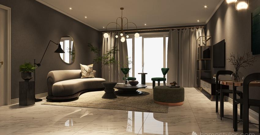 Modern Italian Interior Design Render