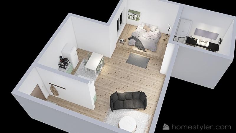Korea Apartment Interior Design Render