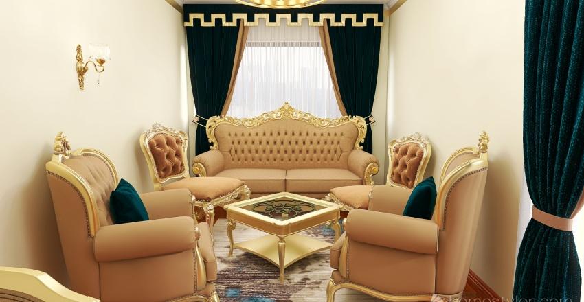 small classic hall Interior Design Render