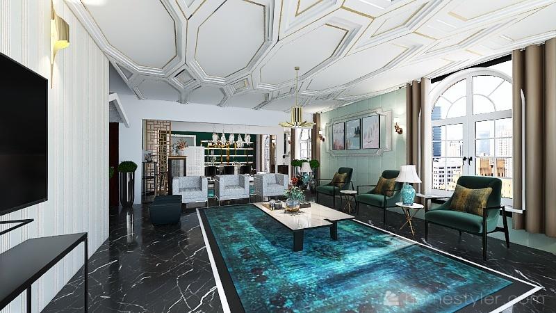 Modern main floor duplex MANAR Interior Design Render