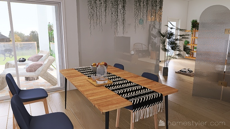 duplex boémio Interior Design Render
