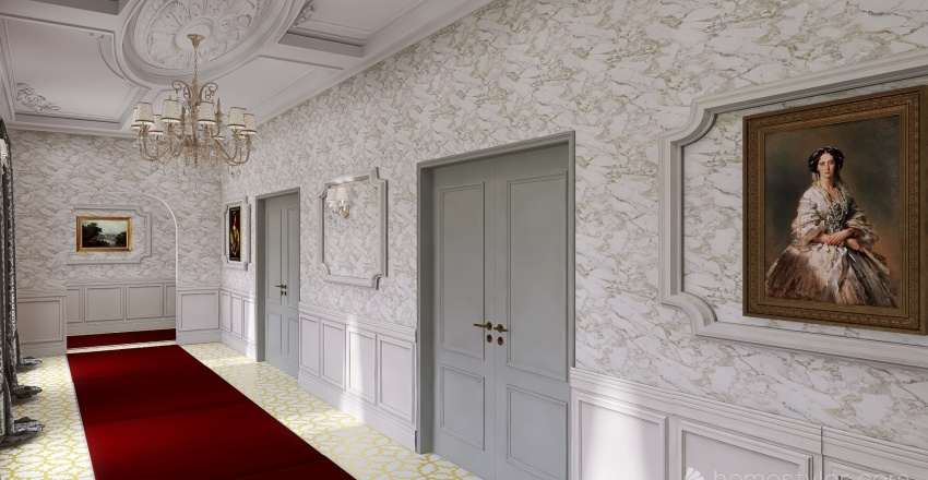 pasillo Interior Design Render