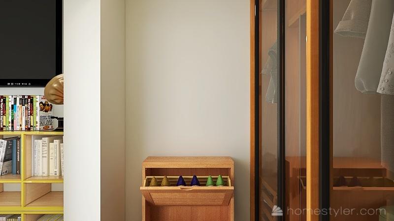 colorful teenager bedroom Interior Design Render