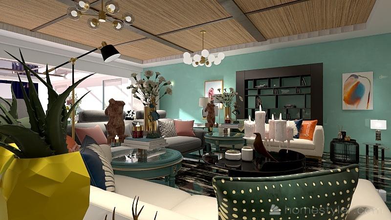 FILLA 1 FLOUR ة Interior Design Render