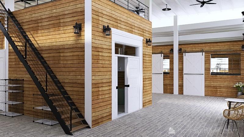 Horse Barn Design Interior Design Render