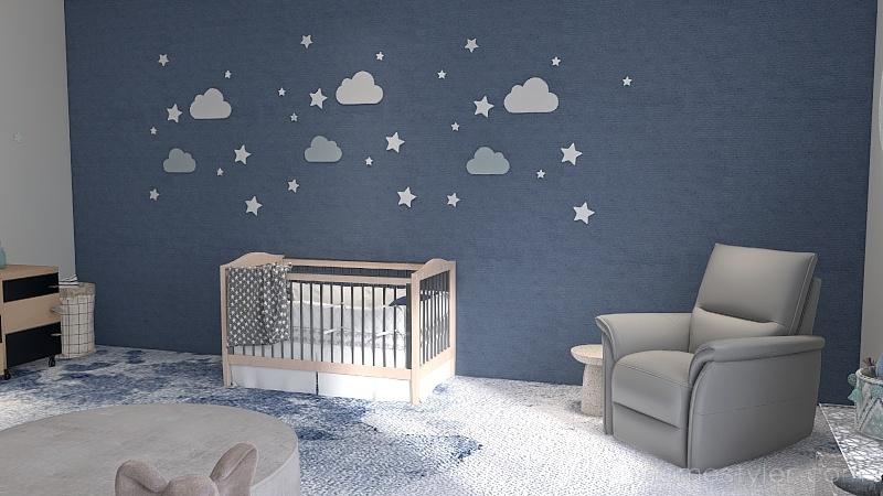 blue skies Interior Design Render