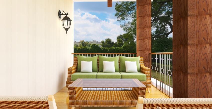 Country Interior Design Render